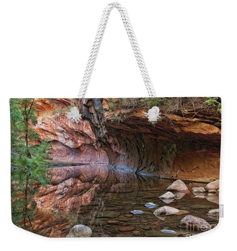 River Weekender Tote Bag featuring the photograph Oak Creek by Claudia Kuhn