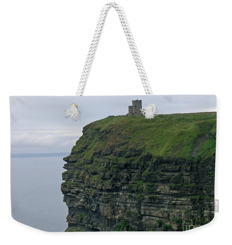 Ireland Weekender Tote Bag featuring the photograph O'breins Tower by Brenda Brown