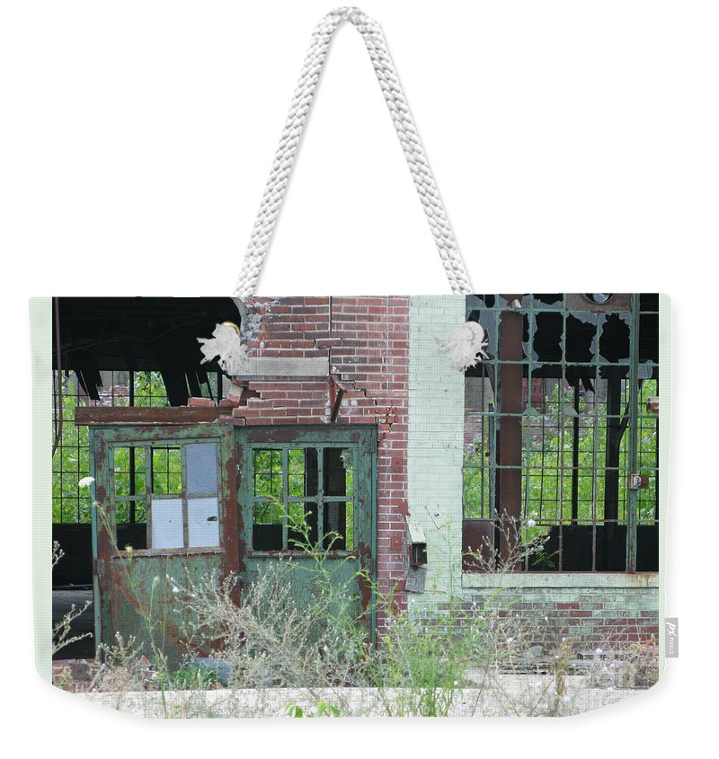 Factory Weekender Tote Bag featuring the photograph Obsolete by Ann Horn
