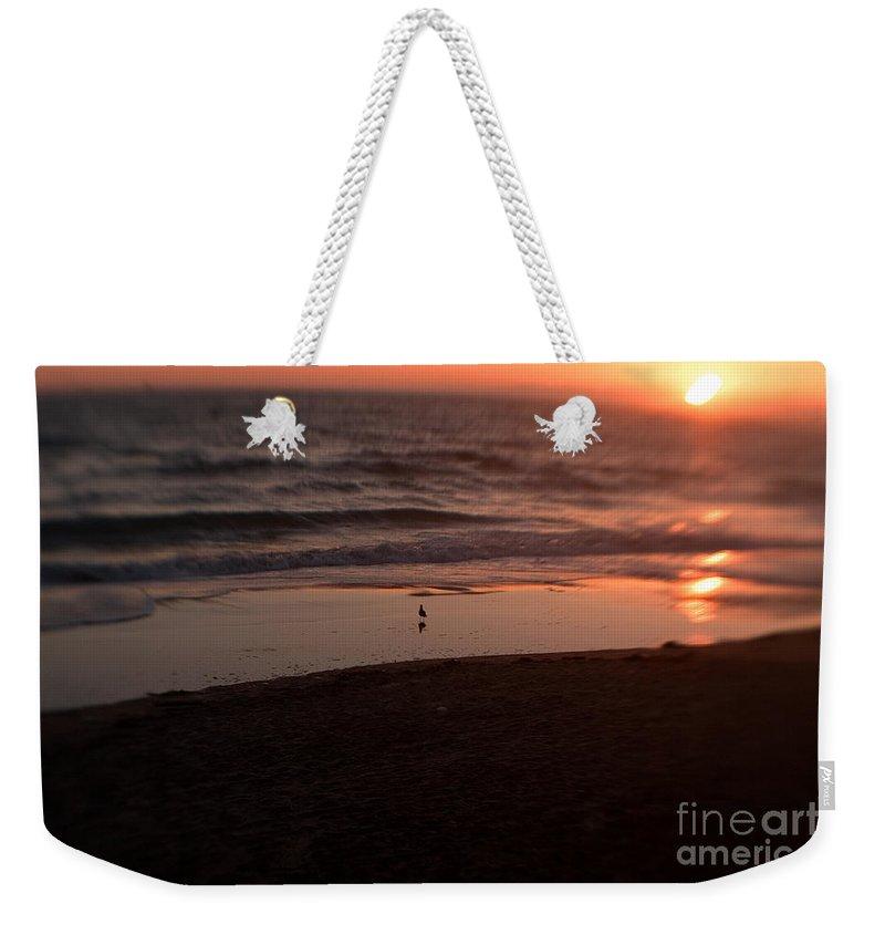 Sunset Weekender Tote Bag featuring the photograph Ocean Glow by Scott Pellegrin