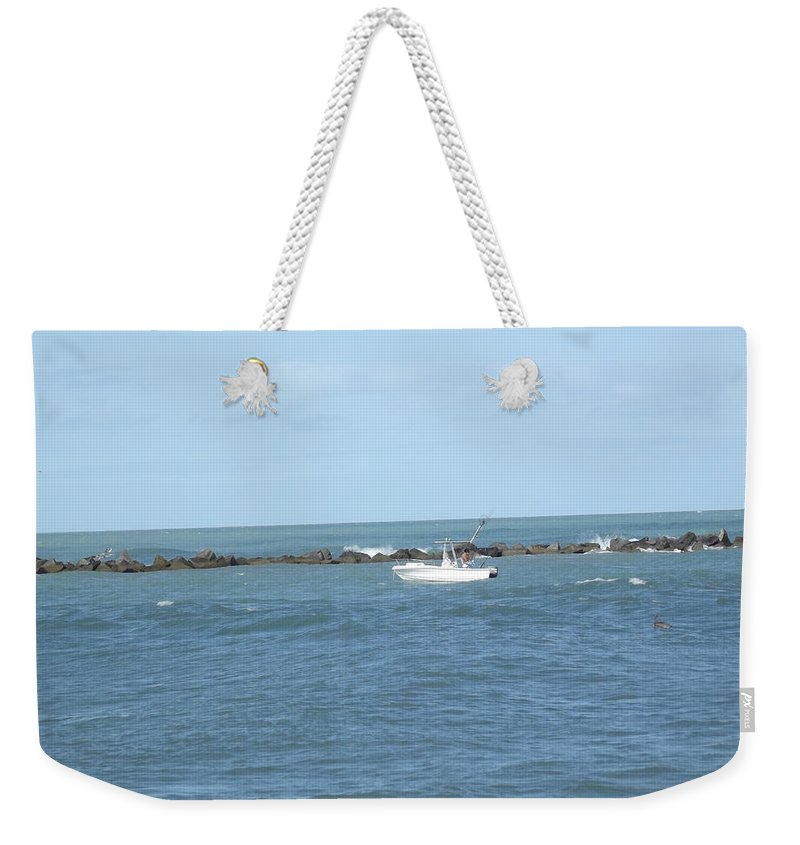 Boat Weekender Tote Bag featuring the photograph Ocean Goer by Jennifer Lavigne