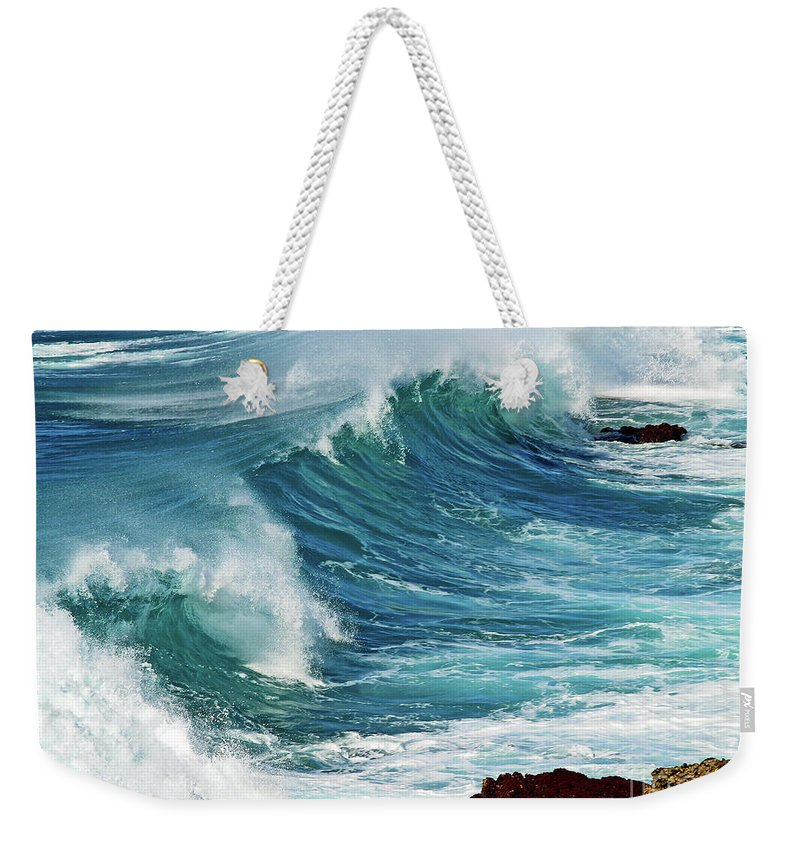 Ocean Photography Weekender Tote Bag featuring the photograph Ocean Majesty by Patricia Griffin Brett