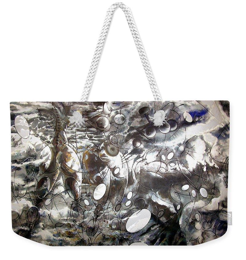 Landscape Weekender Tote Bag featuring the painting Ocean by Nikolai Bartossik