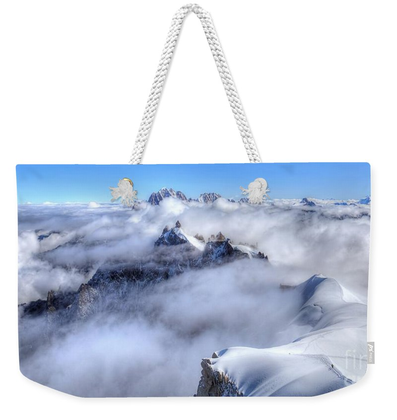 Mont Blanc Weekender Tote Bag featuring the photograph Ocean Of Clouds by James Anderson