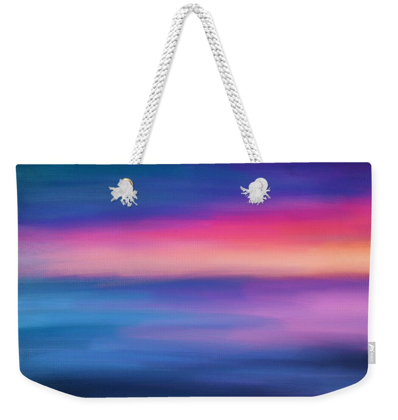 Seascapes Abstract Weekender Tote Bag featuring the digital art Ocean Rises by Lourry Legarde