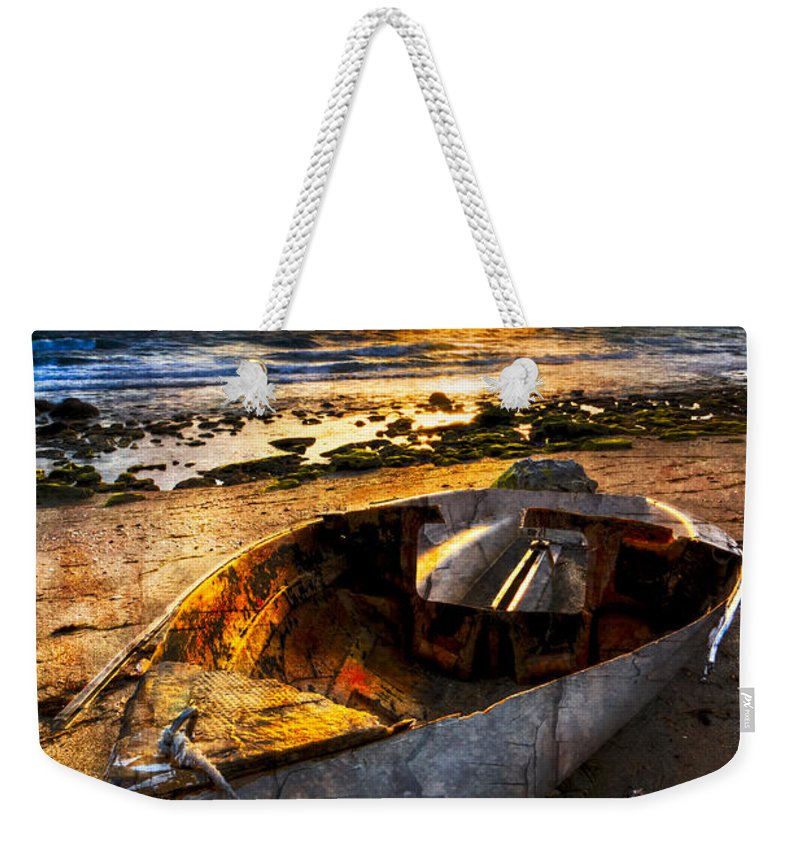 Boats Weekender Tote Bag featuring the photograph Ocean Salty by Debra and Dave Vanderlaan