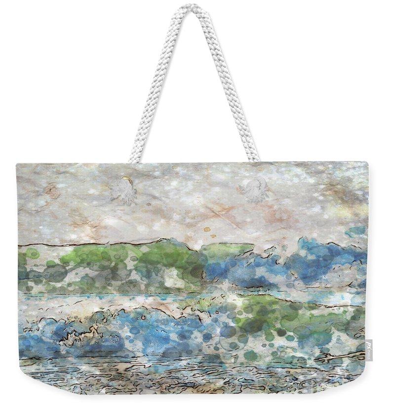 Ocean Weekender Tote Bag featuring the photograph Ocean Waves by Jacklyn Duryea Fraizer