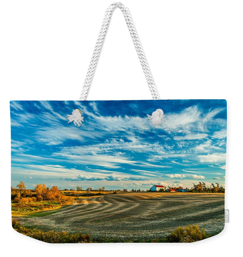 Landscape Weekender Tote Bag featuring the photograph October Patterns by Steve Harrington