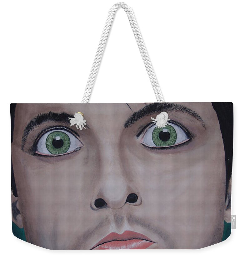 Rockumentory Weekender Tote Bag featuring the painting Ode To Billie Joe by Dean Stephens