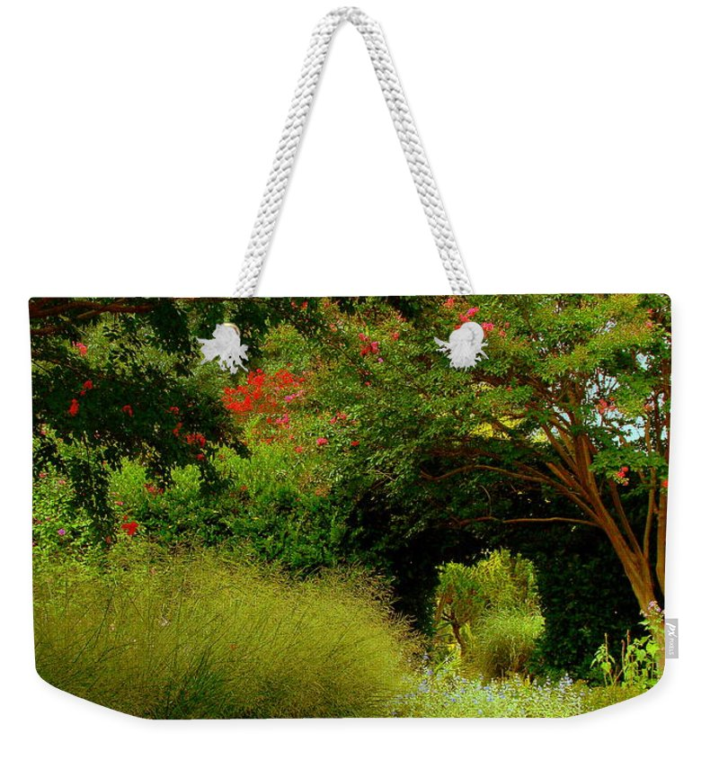 Fine Art Weekender Tote Bag featuring the photograph Of Earthly Delights by Rodney Lee Williams