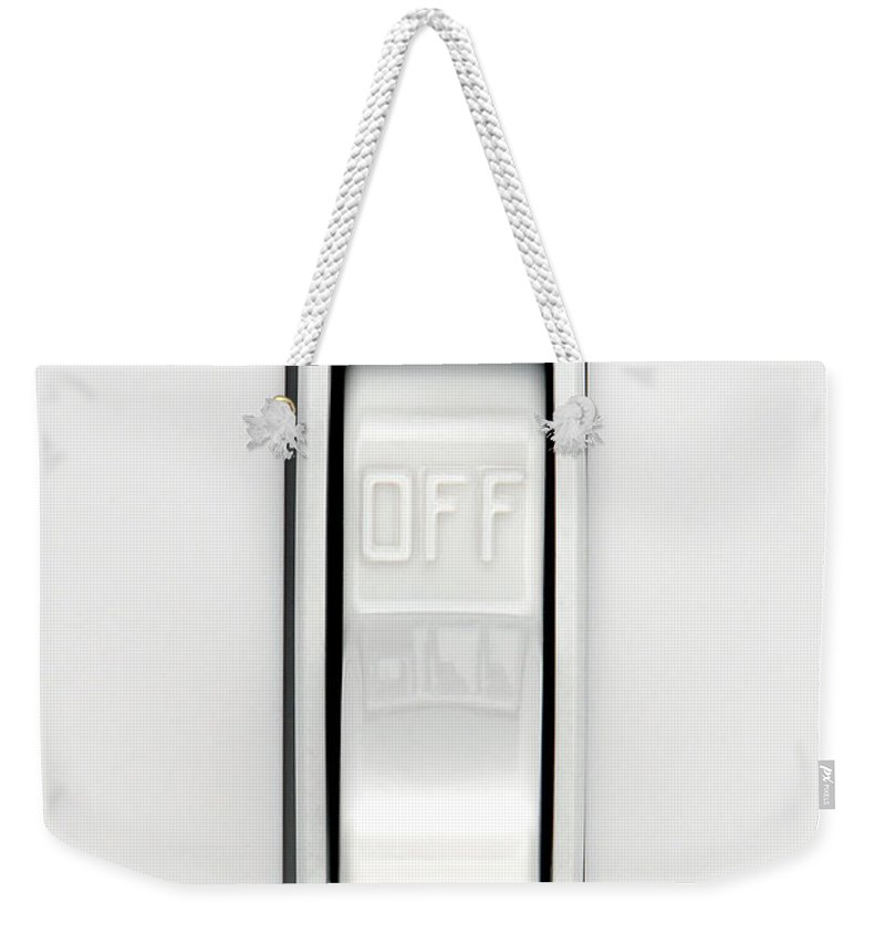 Switch Weekender Tote Bag featuring the photograph OFF by Olivier Le Queinec