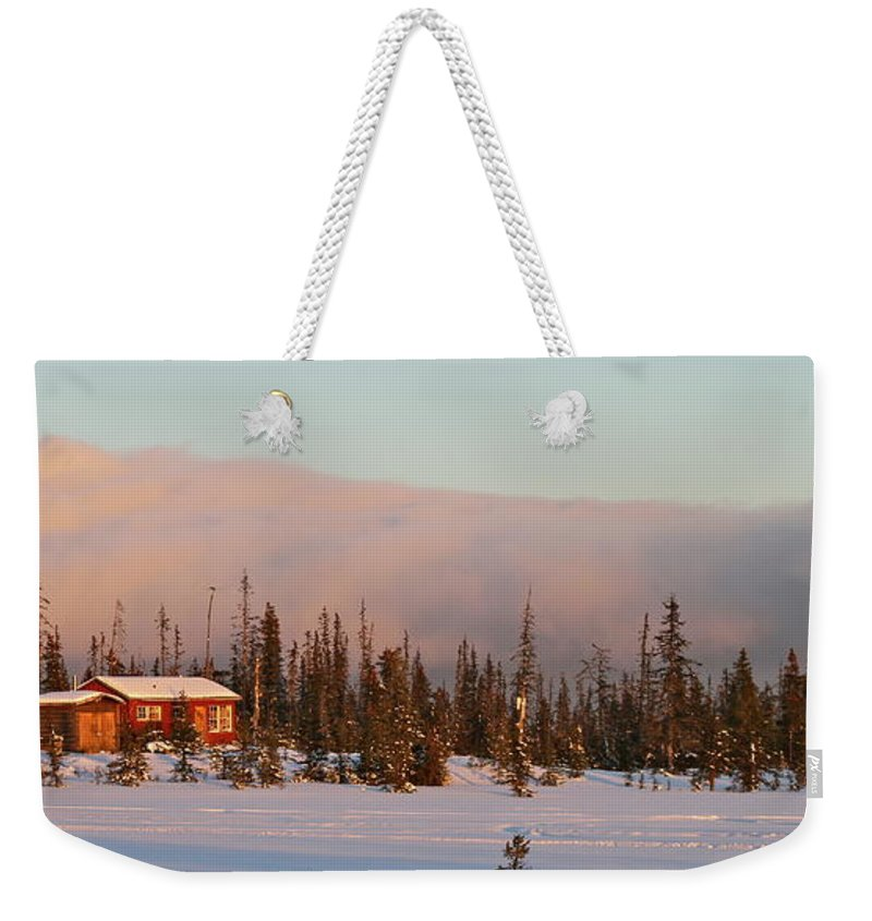 Cabin Weekender Tote Bag featuring the photograph Off The Beaten Path by Rick Monyahan
