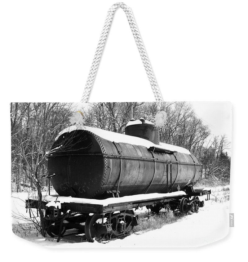 Train Weekender Tote Bag featuring the photograph Off The Beaten Track by Sara Raber