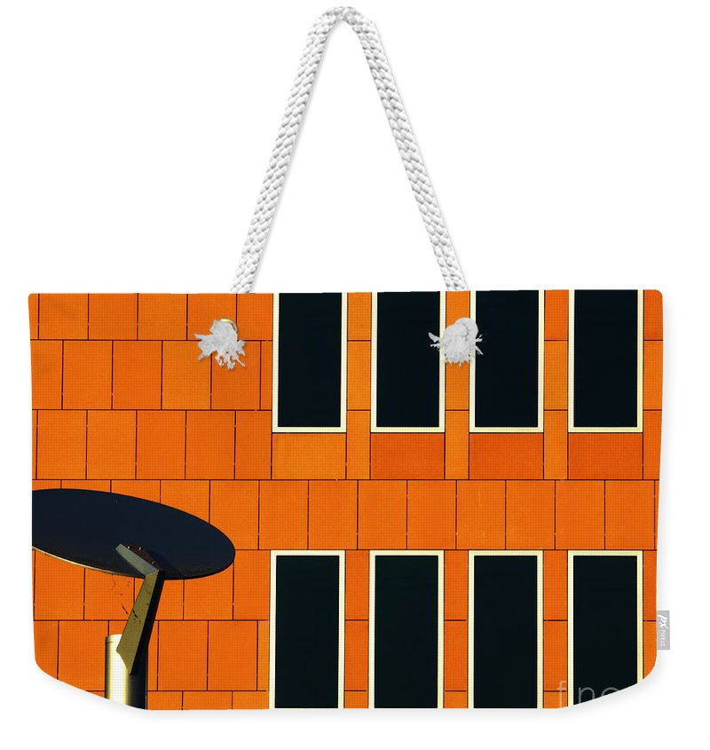 Architecture Weekender Tote Bag featuring the photograph Office Black Out by Luc Van de Steeg