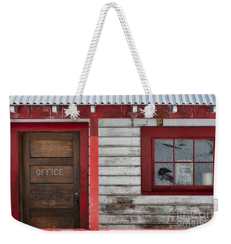 Door Weekender Tote Bag featuring the photograph Office Door by David Arment