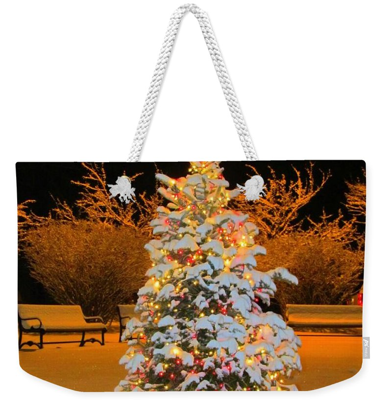Christmas Tree Weekender Tote Bag featuring the photograph Oh Christmas Tree by Elizabeth Dow