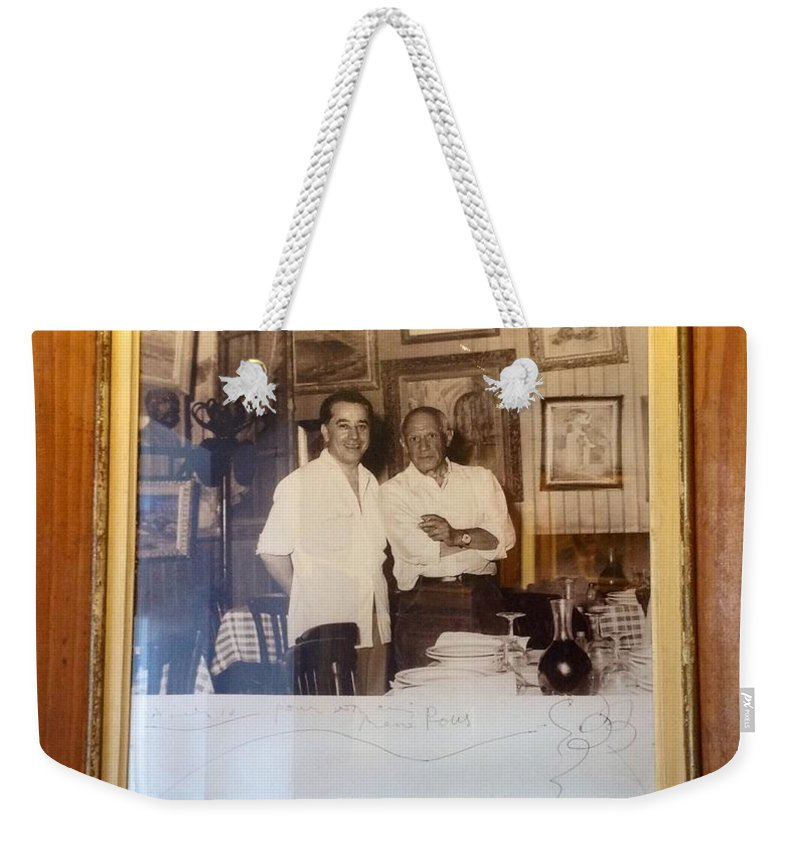 Pablo Picasso Weekender Tote Bag featuring the photograph Oh Pablo.. by France Art