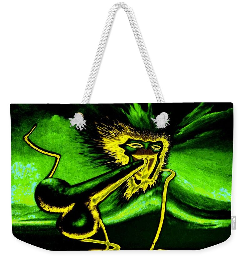 Genio Weekender Tote Bag featuring the mixed media Oh Yes by Genio GgXpress