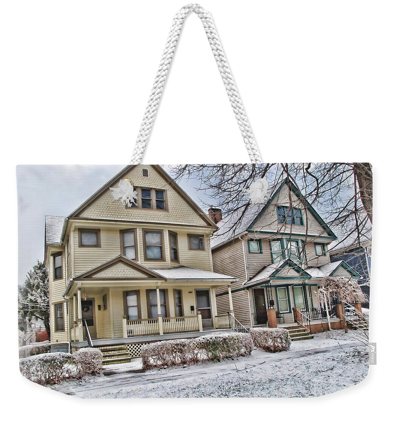 Ohio City Weekender Tote Bag featuring the photograph Ohio City Cleveland by Joan Minchak