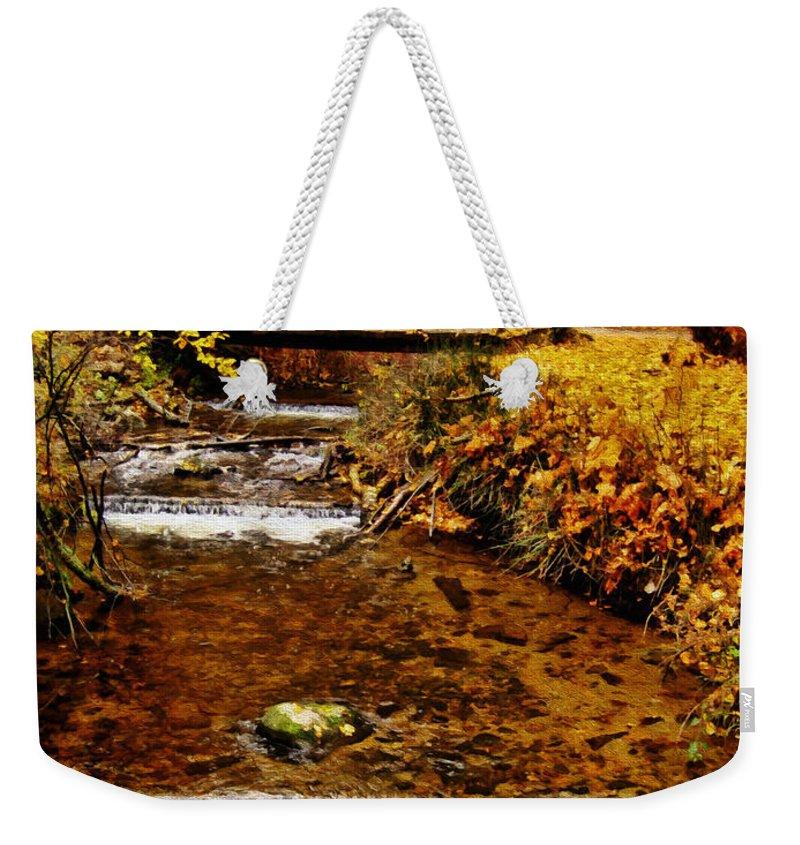 Okanagan Weekender Tote Bag featuring the photograph Okanagan Autumn by Kathy Bassett