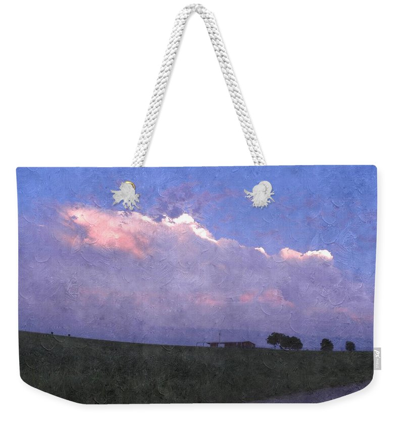 Storm Clouds Weekender Tote Bag featuring the photograph Oklahoma Storm Clouds 1 by Annie Adkins