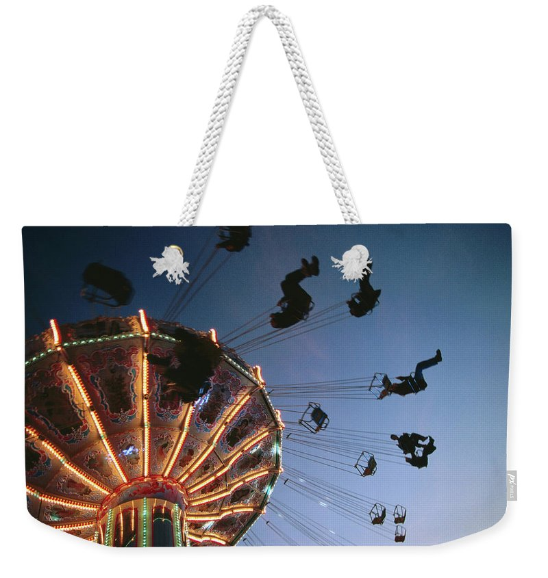 Event Weekender Tote Bag featuring the photograph Oktoberfest Style Event In September by Thomas Winz