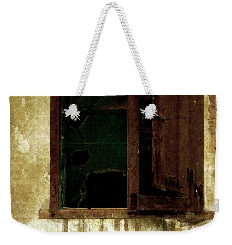 Grunge Weekender Tote Bag featuring the photograph Old And Decrepit Window by RicardMN Photography