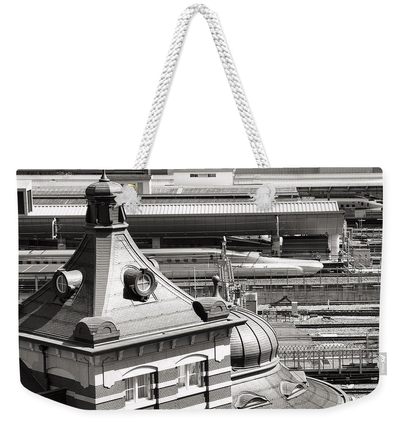 Old Tokyo Station Weekender Tote Bag featuring the photograph Old And New Tokyo Station by For Ninety One Days