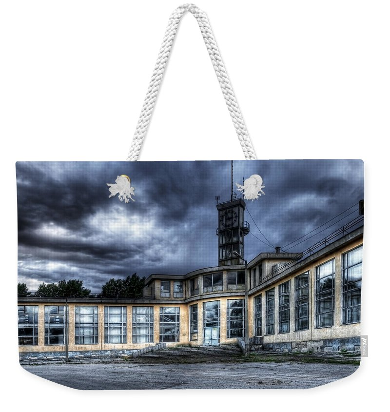 Hdr Weekender Tote Bag featuring the photograph Old And Rusty Building by Svetlana Sewell