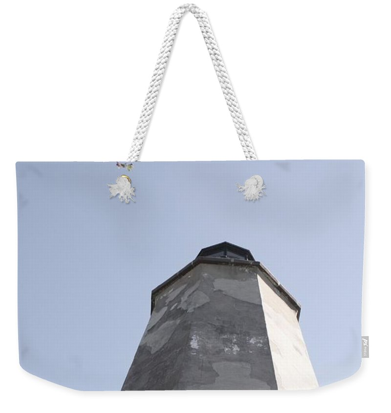 Lighthouse Weekender Tote Bag featuring the photograph Old Baldy Lighthouse Nc by Nadine Rippelmeyer