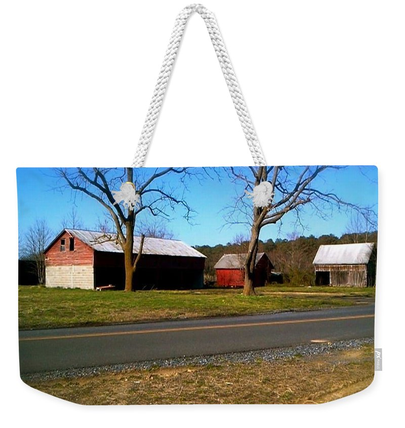 Old Weekender Tote Bag featuring the photograph Old Barn by Chris W Photography AKA Christian Wilson