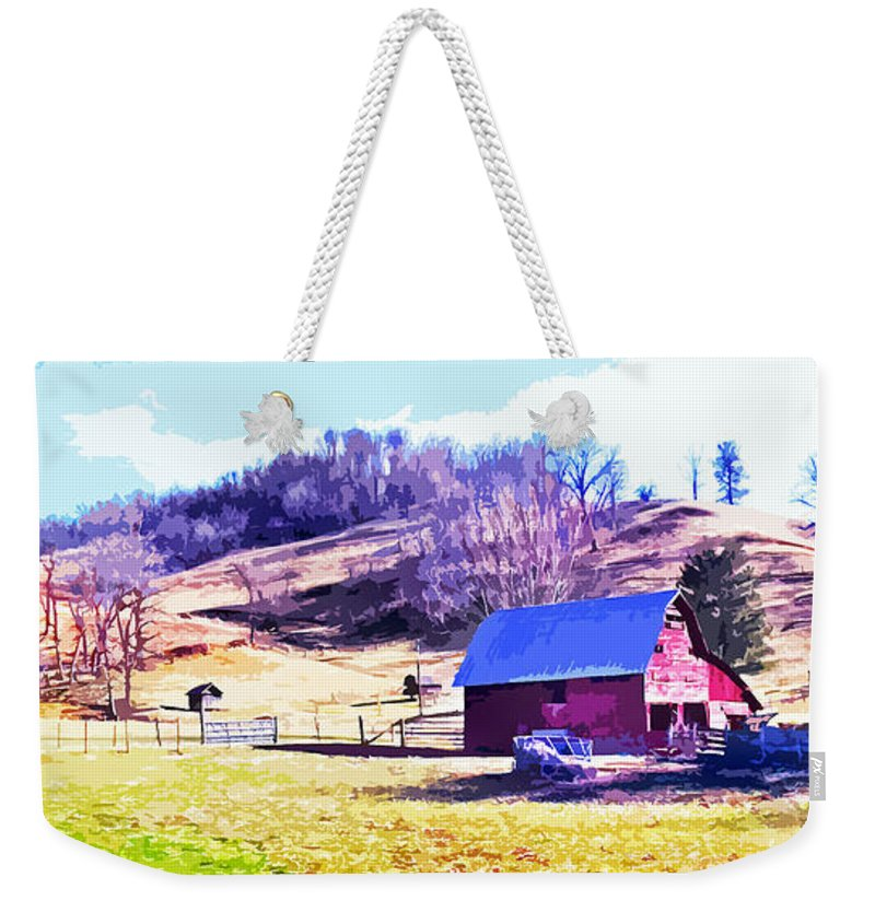 Barns Weekender Tote Bag featuring the photograph Old Barn In November Filtered by Duane McCullough