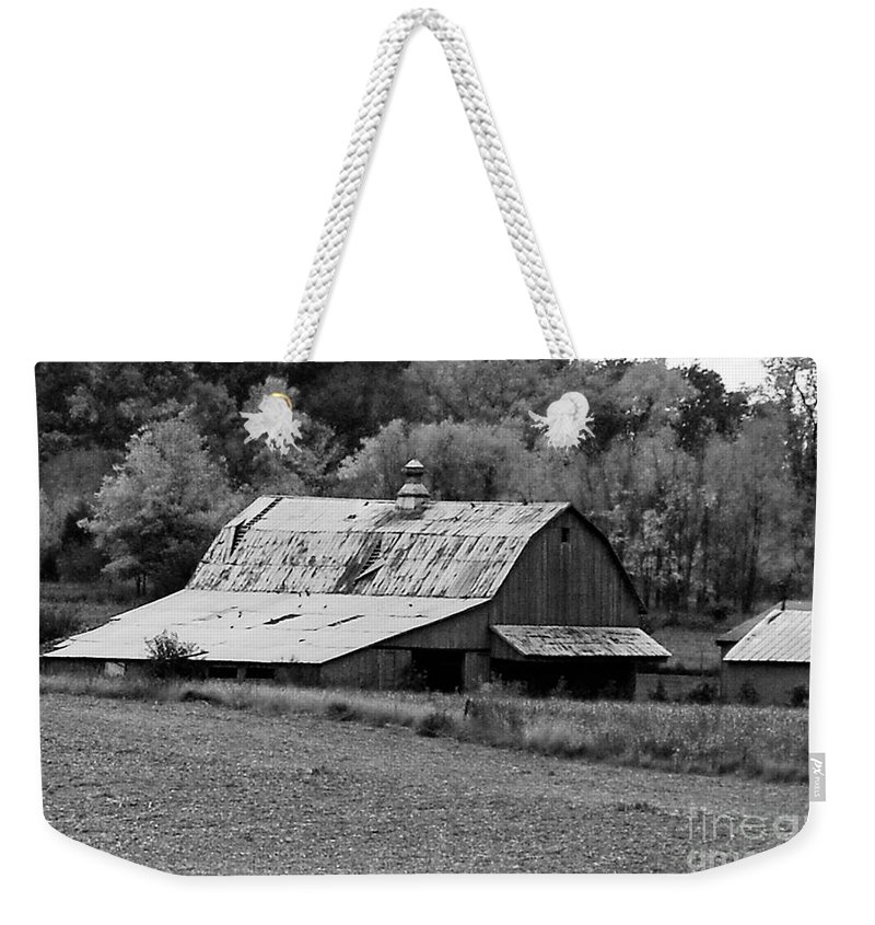 Barn Weekender Tote Bag featuring the photograph Old Barn by Mary Carol Story