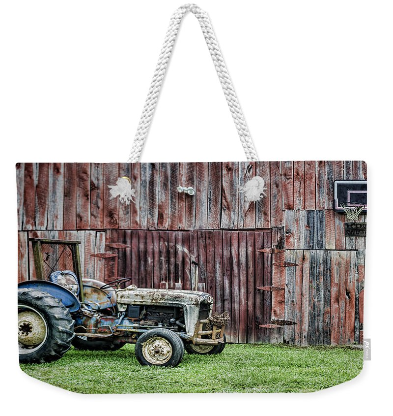Tractor Weekender Tote Bag featuring the photograph Old But Not Done by Heather Applegate