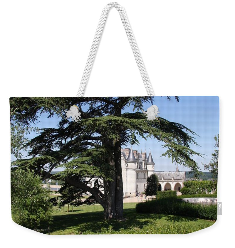 Cedar Weekender Tote Bag featuring the photograph Old Cedar At Chateau Amboise by Christiane Schulze Art And Photography