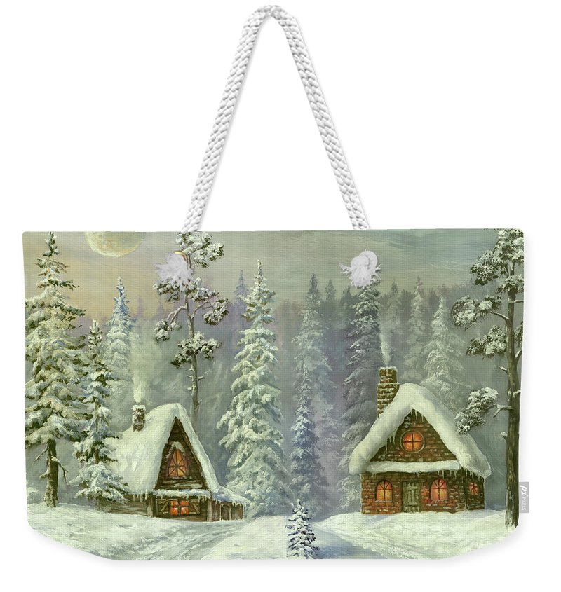 Art Weekender Tote Bag featuring the digital art Old Christmas Card by Pobytov