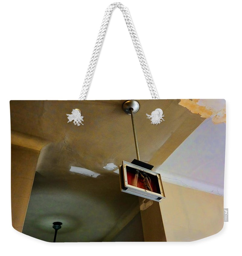 Evanston Weekender Tote Bag featuring the photograph Old Court House In Evanston Wyoming - 3 by Ely Arsha