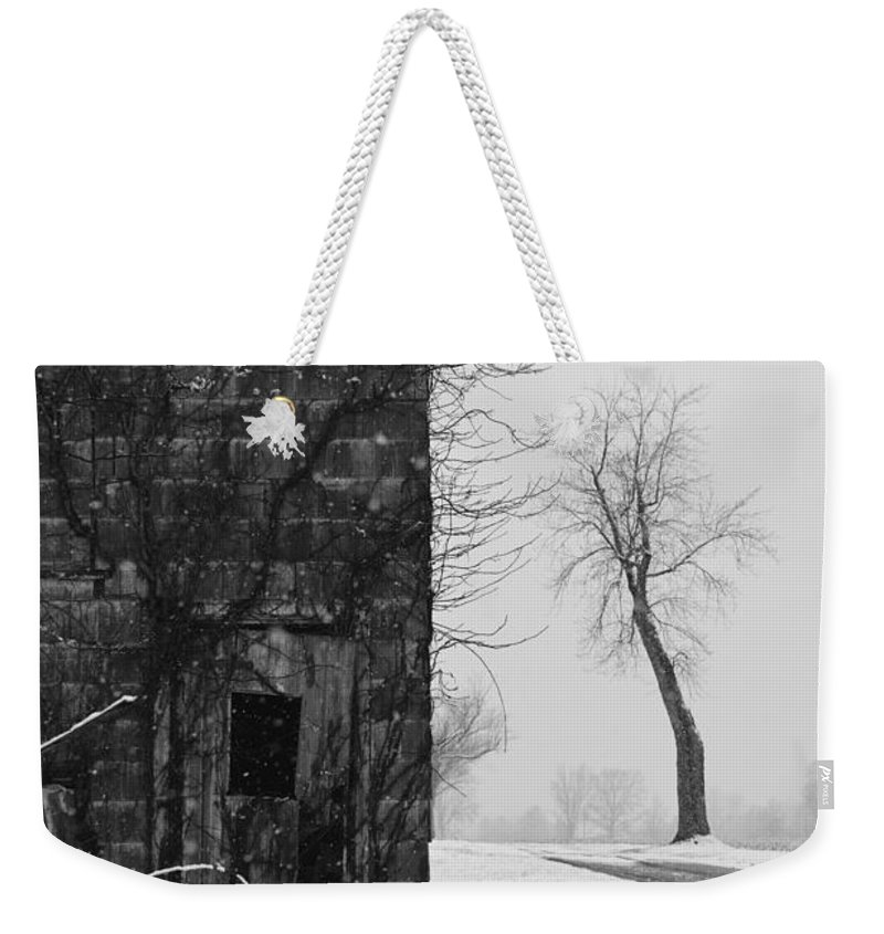 Door Weekender Tote Bag featuring the photograph Old Door And Tree by William Jobes