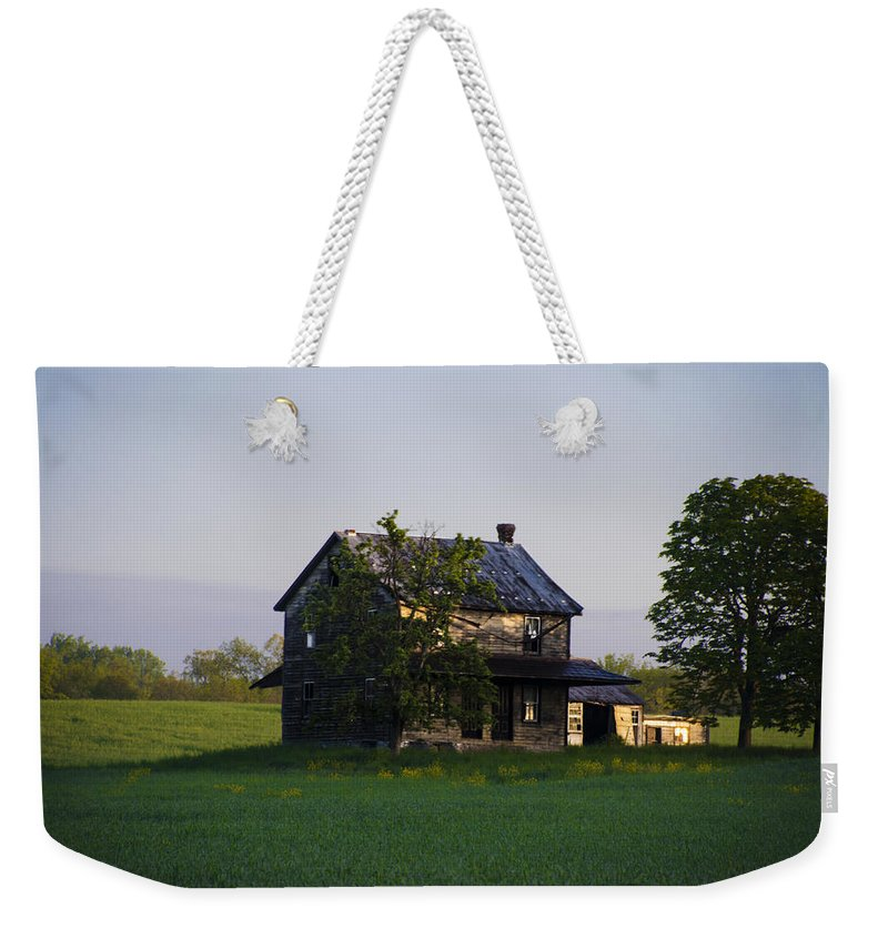 Old Weekender Tote Bag featuring the photograph Old Farmhouse by Bill Cannon