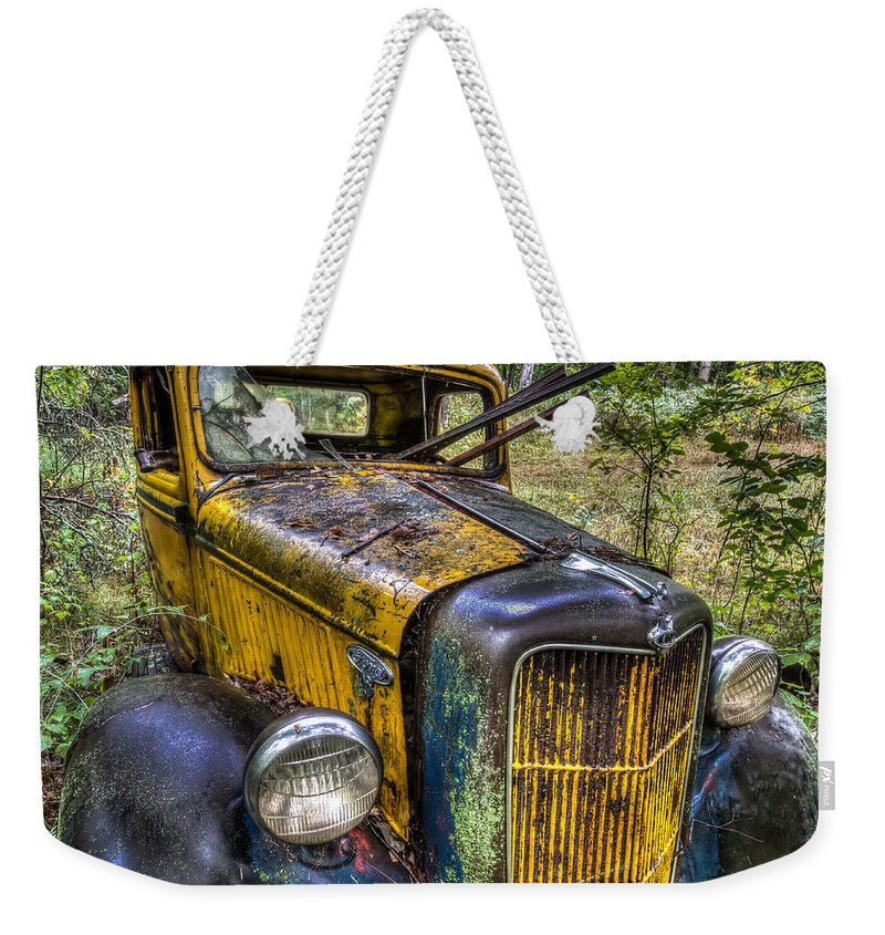 Rare Weekender Tote Bag featuring the photograph Old Ford by Paul Freidlund