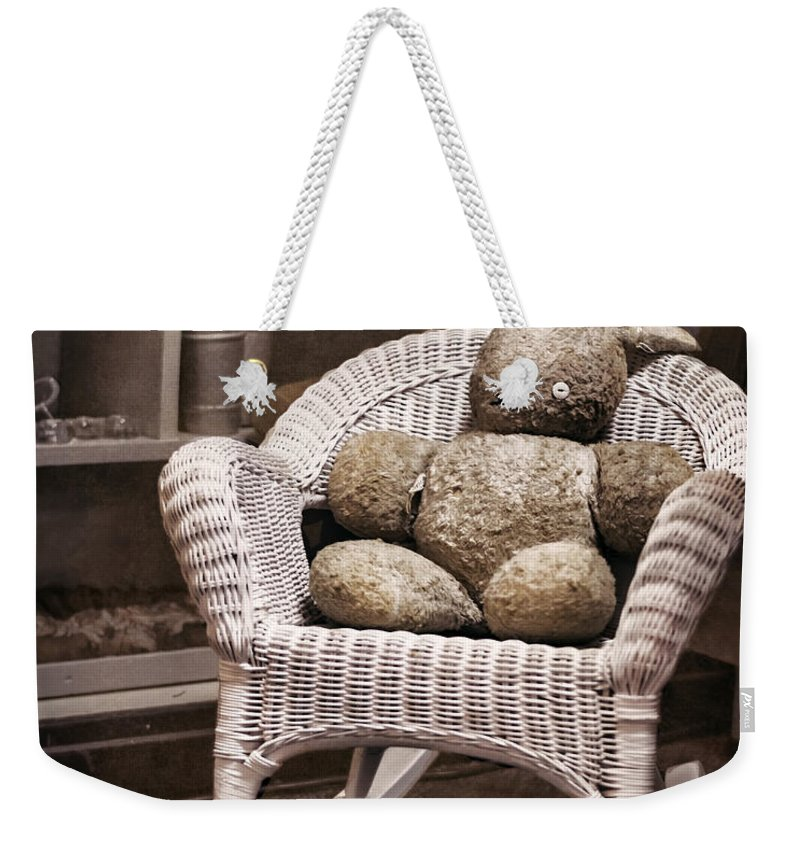 Stuffed Animal Weekender Tote Bag featuring the photograph Old Friend by Heather Applegate