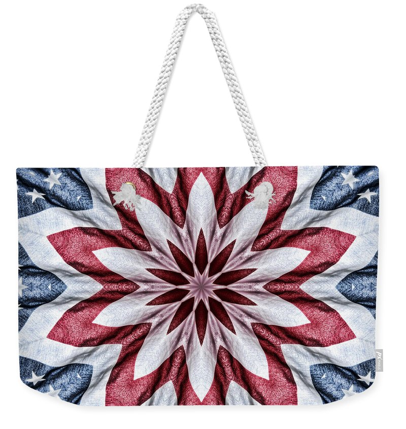 Kaleidoscope Weekender Tote Bag featuring the photograph Old Glory by Cricket Hackmann