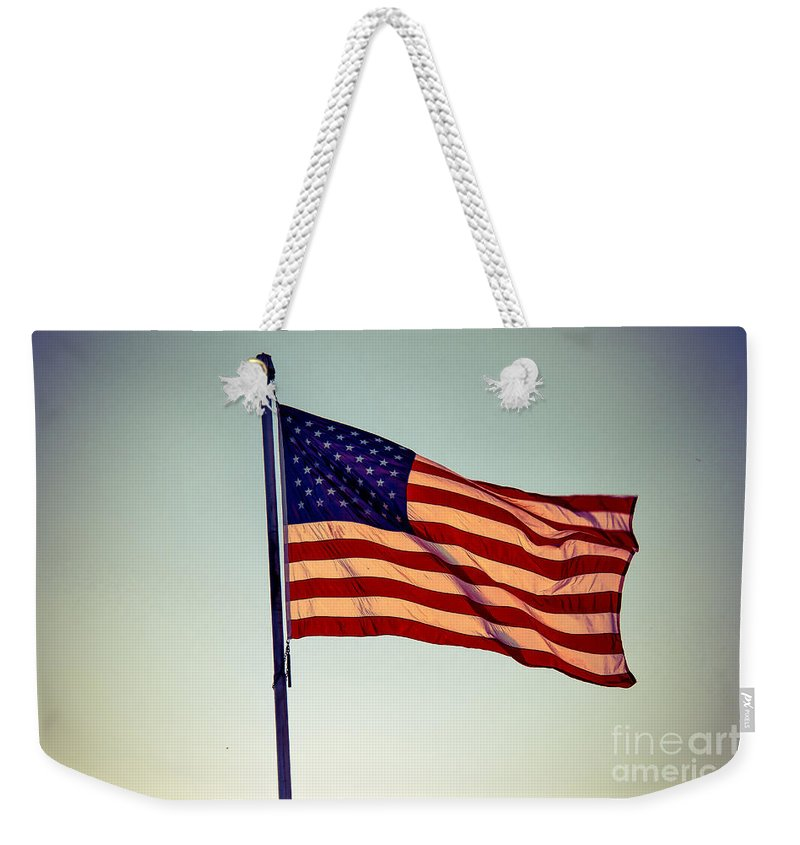 Flag Weekender Tote Bag featuring the photograph Old Glory by Robert Bales