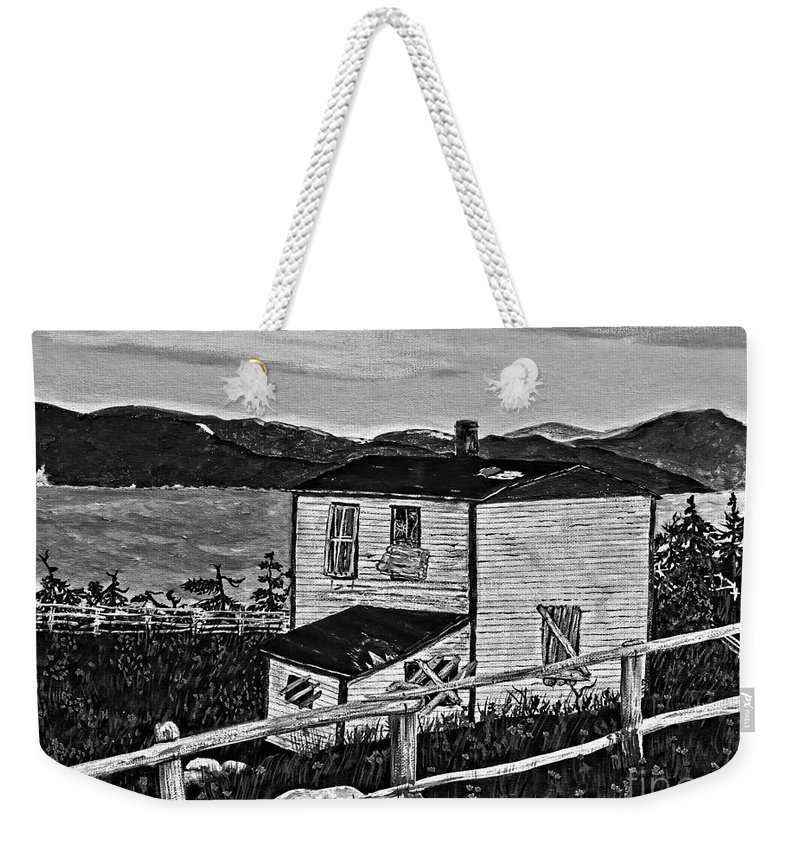 Memories Weekender Tote Bag featuring the painting Old House - Memories - Shutters And Boards by Barbara Griffin