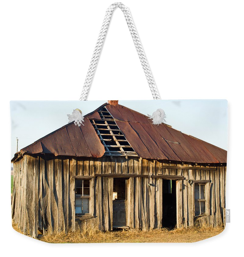Old Weekender Tote Bag featuring the photograph Old House Place Arkansas 3 by Douglas Barnett
