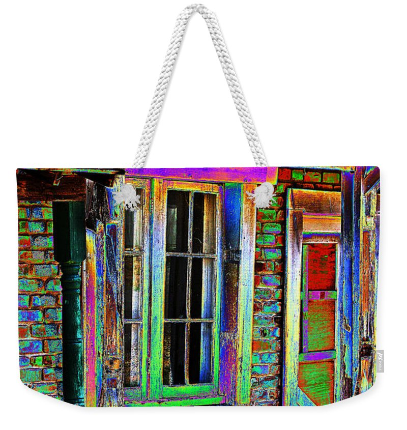 House Weekender Tote Bag featuring the photograph Old House Pop Art by Phyllis Denton