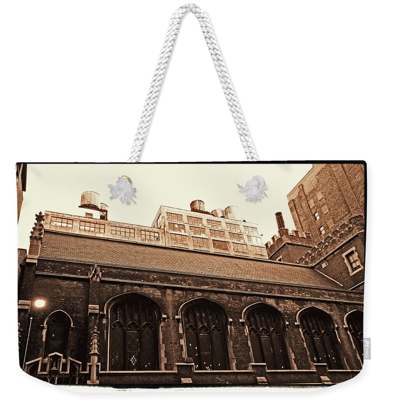 New York Weekender Tote Bag featuring the photograph Old Industry by Donna Blackhall