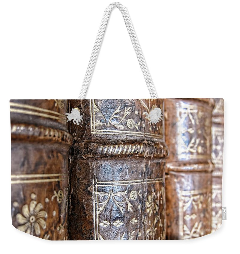 Bookcase Weekender Tote Bag featuring the photograph Old Knowledge by Olivier Le Queinec