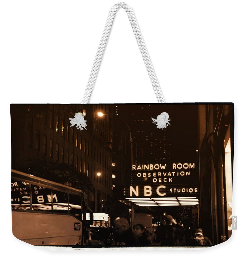 New York Weekender Tote Bag featuring the photograph Old New York by Donna Blackhall