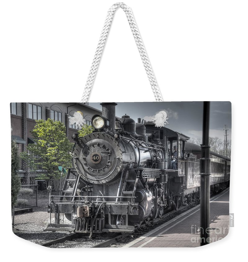 Train Weekender Tote Bag featuring the photograph Old Number 40 by Anthony Sacco
